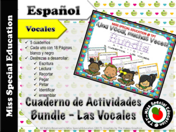 DOLLAR DEALS: Tarea de las Vocales - BUNDLE  (Español/Spanish - Vowels)