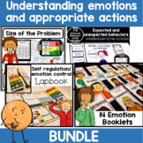 Emotions and behavior activities worksheets and supports   bundle