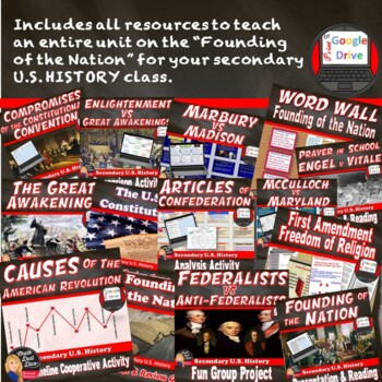 BUNDLE Founding of the Nation   (U.S. History) Common-Core Aligned!