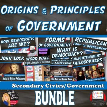BUNDLE – Origins and Principles of Government Unit (CIVICS