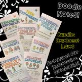 BUNDLE Unit: Exponents: Math Doodle Note Brochures for Interactive Notebooks