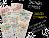 BUNDLE Unit: Integers - Math Decorated Notes Brochures for Interactive Notebooks
