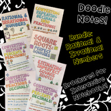 BUNDLE Unit: Rational & Irrational Numbers - Doodle Note Brochures for INBs