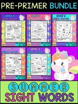 BUNDLE : Unni's Sight Words - Pre Primer - Summer