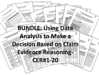BUNDLE-Using Data Analysis to Make a Decision-ClaimEvidenceReasoning-CER-#1-20
