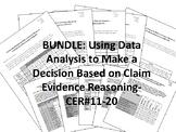BUNDLE-Using Data Analysis to Make a Decision-ClaimEvidenceReasoning-CER-#11-20