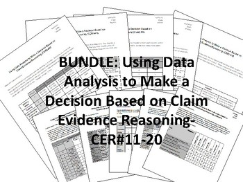 BUNDLE-Using Data Analysis to Make a Decision-ClaimEvidenceReasoning-CER-#11-20