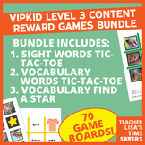 BUNDLE - VIPKID Level 3 Content Reward Games Set of 3