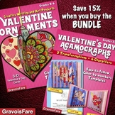 Valentine's Day Crafts and Activities BUNDLE: Ornaments & Agamographs—Save 15%