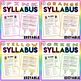 BUNDLE!! Variety Pack of Editable Back to School Class Syllabus Templates