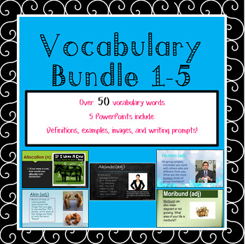 BUNDLE Vocabulary Weeks 1-5