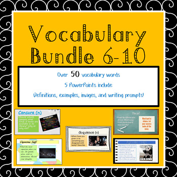 BUNDLE Vocabulary Weeks 6-10