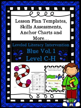 BUNDLE Vol.1 Blue LLI Anchor Skill Assessments,Lesson Plan Templates 1st Edition