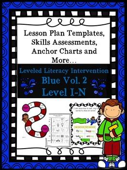 BUNDLE Vol. 2 Blue LLI Anchors Skill Assessment Lesson Plan Template 1st Edition