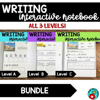 BUNDLE WRITING NOTEBOOKS FOR SPECIAL EDUCATION