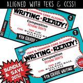 Set 2 BUNDLE WRITING READY 4th Grade Task Cards – Revising Drafts {TEKS-aligned}
