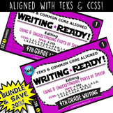 BUNDLE~WRITING READY 4th Grade Task Cards: Using & Underst