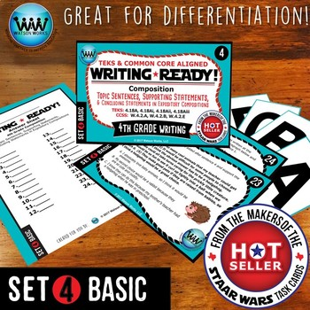 BUNDLE ~ WRITING READY 4th Grade: Topic, Supporting, & Concluding Statements