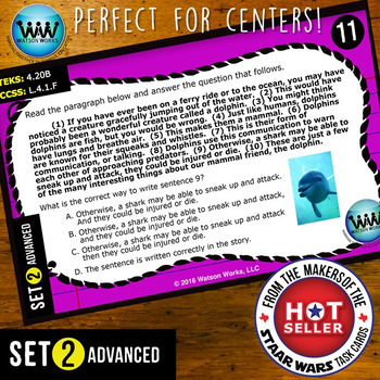 BUNDLE ~ WRITING READY Task Cards: Complete Subjects & Predicates in Sentences