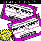 BUNDLE ~ WRITING READY Task Cards: Complete Subjects & Pre