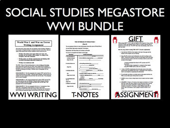 WWI World War I The Great War 1914-1918 Reading Writing Activity Bundle