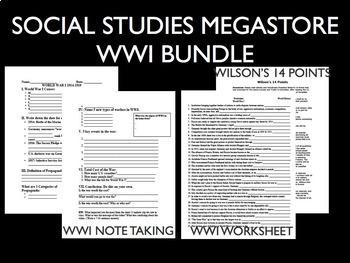 WWI World War I The Great War 1914-1918 Reading Writing Activity Bundle
