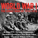 WWI World War I The Great War 1914-1918 Reading Writing Ac