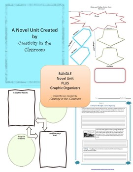 BUNDLE: Walk Two Moons Novel Unit Plus Grammar AND Graphic Organizers