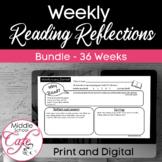 BUNDLE Weekly Reading Reflection Journal