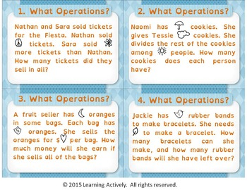 BUNDLE: What Operations? Word Problem Task Cards