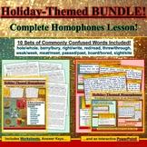 BUNDLE: Winter Holiday 10-Set Homophones Interactive Power