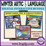 BUNDLE Winter Language Articulation and Literacy Digital -