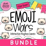 BUNDLE: Winter Polar Bears Emoji Wars {Interactive Rhythm Games}