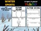 BUNDLE : Winter Sports Graphic Organizers, Winter Olympics 2018