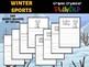 BUNDLE : Winter Sports Graphic Organizers, Winter Olympics 2018