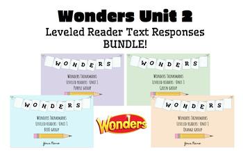 BUNDLE! McGraw-Hill Wonders Leveled Readers DIGITAL Text Responses-UNIT2-GRADE 5
