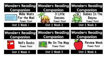 BUNDLE Wonders. Unit 2 Weeks 1 - 6. Interactive Power Points. First Grade