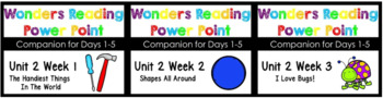 BUNDLE Wonders Unit 2 Weeks 1-3 Power Points Kindergaten