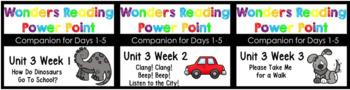 BUNDLE Wonders Unit 3 Weeks 1-3 Power Point Kindergaten