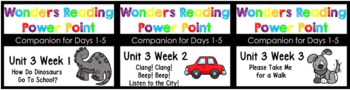 BUNDLE Wonders Unit 3 Weeks 1-3 Power Point Kindergaten