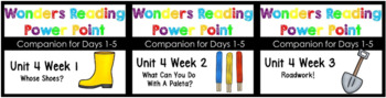 BUNDLE Wonders Unit 4 Weeks 1-3 Power Point Kindergarten