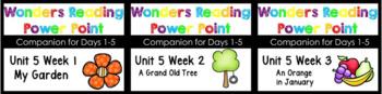 BUNDLE Wonders Unit 5 Weeks 1-3 Power Points Kindergarten