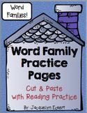 BUNDLE: Short Vowel Families Word Family Cut, Paste & Read Practice