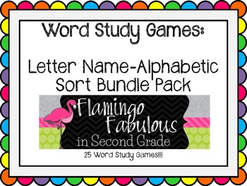 BUNDLE Word Study Games lessons 01-22b (Letter Name Stage)