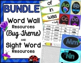 BUNDLE:  Word Wall & Sight Word Resource Packets (Bug Theme)