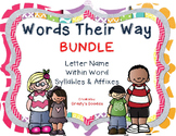 {BUNDLE #1} Words Their Way - Letter Name, Within Word, Syllables and Affixes