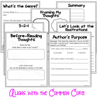 BUNDLE - Wordy Birdy - Book Study + Readers' Theater - CCSS