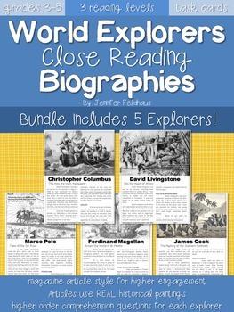 BUNDLE: World Explorers Close Reading Biographies