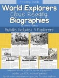 BUNDLE: World Explorers Close Reading Biographies