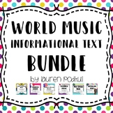 BUNDLE - World Music - Reading and Questions - Great for Subs!